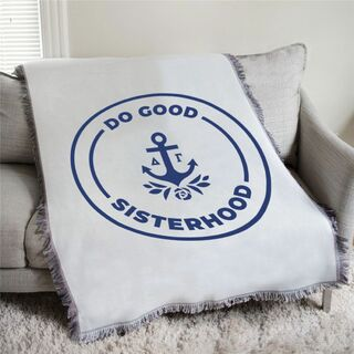 Delta Gamma Do Good Sisterhood Afghan Blanket Throw