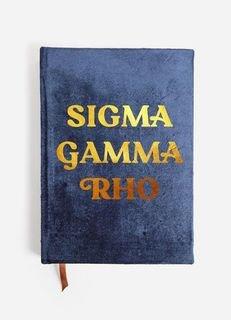 Sigma Gamma Rho Velvet Notebook