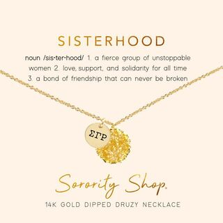 Sigma Gamma Rho Sisterhood Druzy Necklace