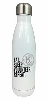 Eat. Sleep. Volunteer. Repeat Water Bottle