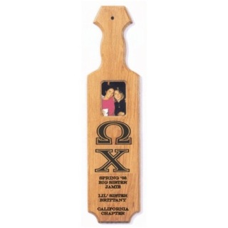Oak Greek Paddle with Picture Cutout