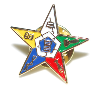 OES Order of Eastern Star 3D Color Shield Pins