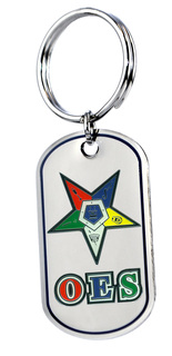 OES Order of Eastern Star Reversible Key Chains