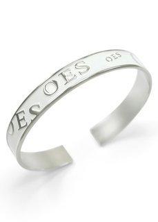 OES White Cuff Bracelet