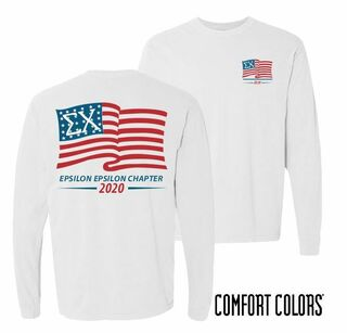 Old Glory Long Sleeve Tee - Comfort Colors