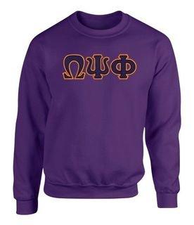 Omega Psi Phi 2 Day Ship Twill Crewneck Sweatshirt