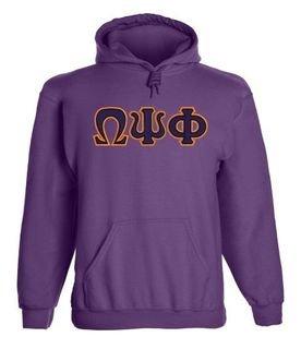 Omega Psi Phi 2 Day Ship Twill Hooded Sweatshirt
