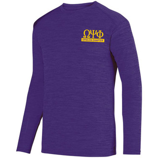Omega Psi Phi- $20 World Famous Dry Fit Tonal Long Sleeve Tee