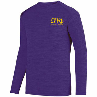Omega Psi Phi- $26.95 World Famous Dry Fit Tonal Long Sleeve Tee