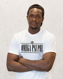 Omega Psi Phi Line Crest Tee