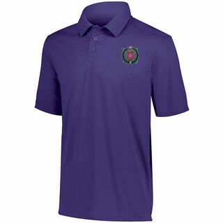 DISCOUNT-Omega Psi Phi- World Famous Greek Crest - Shield Vital Polo