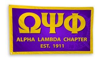 Omega Psi Phi 3 x 5 Flag