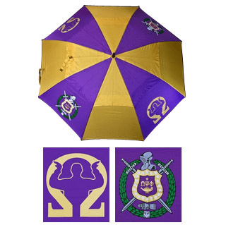 "Omega Psi Phi 30"" Wind Resistant Auto Open Umbrella"