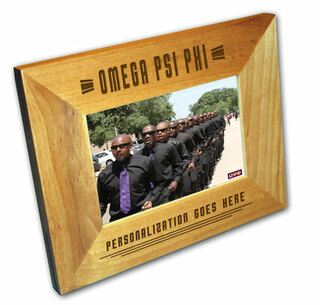 "Omega Psi Phi 4"" x 6"" Stripes  Custom Picture Frame"