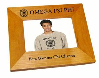 Omega Psi Phi Crest Picture Frame