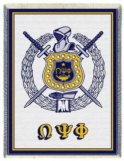 Omega Psi Phi Afghan Blanket Throw