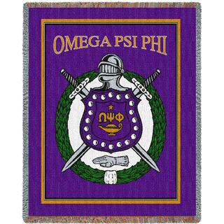 Omega Psi Phi Afghan Heavy Blanket Throw