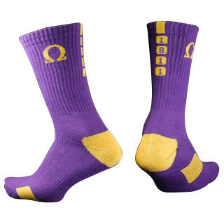 Omega Psi Phi Athletic Crew Socks