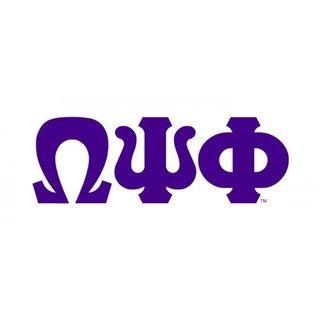 Omega Psi Phi Big Greek Letter Window Sticker Decal