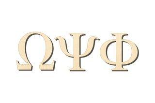 Omega Psi Phi Big Wooden Greek Letters