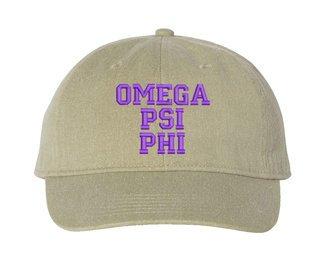 Omega Psi Phi Comfort Colors Pigment Dyed Baseball Cap