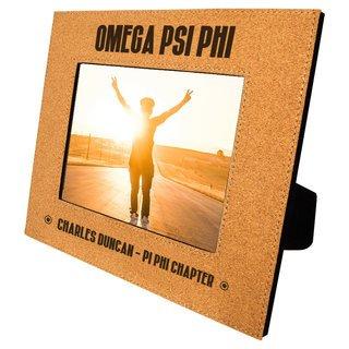 Omega Psi Phi Cork Photo Frame