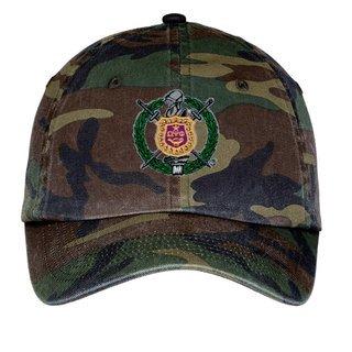 Omega Psi Phi Crest - Shield Camouflage Hat