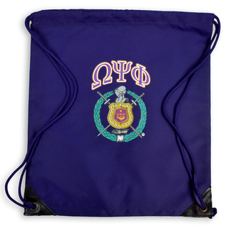 Omega Psi Phi Crest Cinch Sack