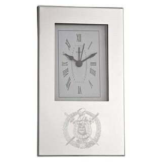 Omega Psi Phi Crest Desk Clock