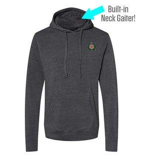 Omega Psi Phi Crest Gaiter Fleece Hooded Sweatshirt