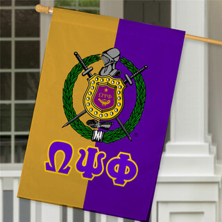 Omega Psi Phi Crest House Flag