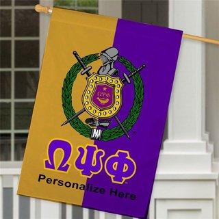 Omega Psi Phi Crest House Flag