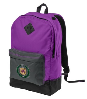 DISCOUNT-Omega Psi Phi Crest - Shield Retro Backpack