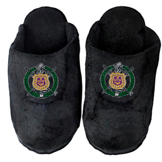 DISCOUNT-Omega Psi Phi Crest - Shield Slippers