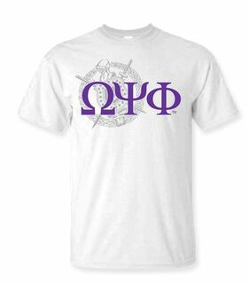 Omega Psi Phi Crest - Shield Tee