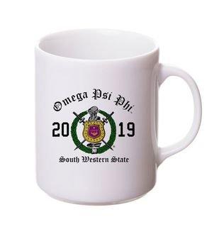 Omega Psi Phi Crest & Year Ceramic Mug