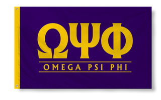 Omega Psi Phi Custom Line Flag