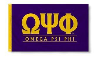 Omega Psi Phi Custom Line Flag