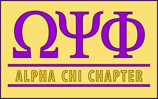 Omega Psi Phi Custom Line Sticker Decal