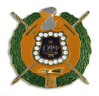 Omega Psi Phi Die Cut Car Badges
