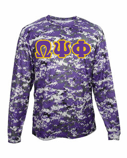 Omega Psi Phi Digital Camo Long Sleeve T-Shirt