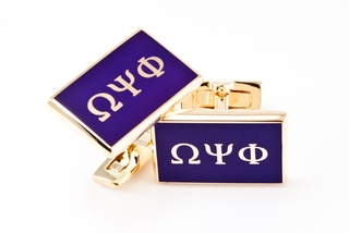 Omega Psi Phi Flag Cufflinks