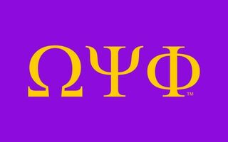 Omega Psi Phi Flag Decal Sticker