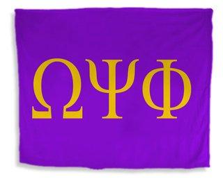 Omega Psi Phi Flag Giant Velveteen Blanket