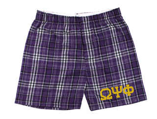 Omega Psi Phi Flannel Boxer Shorts