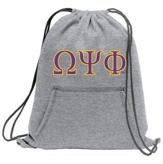 Omega Psi Phi Fleece Sweatshirt Cinch Pack