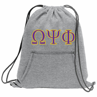 Omega Psi Phi Fleece Sweatshirt Cinch Pack