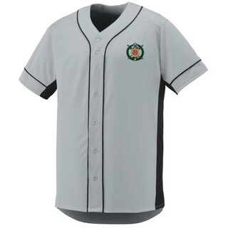 4f0d4b7a66179 DISCOUNT-Omega Psi Phi Fraternity Crest - Shield Slugger Baseball Jersey