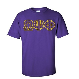Omega Psi Phi Fraternity Crest - Shield Twill Letter Tee