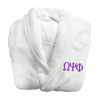 Omega Psi Phi Fraternity Lettered Bathrobe
